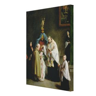 El bautismo impresiones en lienzo estiradas