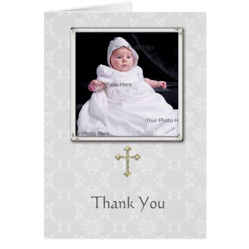El bautizo le agradece cardar tarjeta