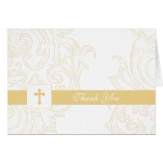 El bautizo o la primera comunión le agradece carda tarjetas