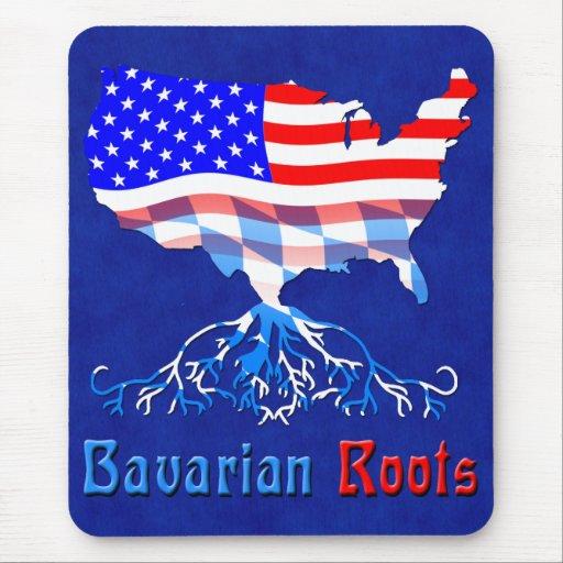 El Bavarian americano arraiga Mousemat Tapetes De Ratones
