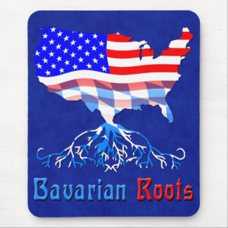 El Bavarian americano arraiga Mousemat Tapetes De Ratón