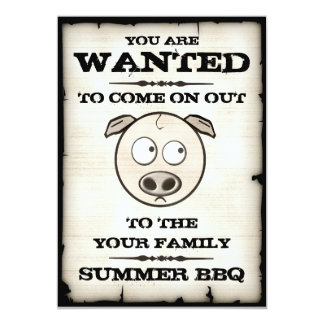 El Bbq del verano quiso invitaciones Comunicado Personal