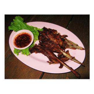 El Bbq Duck la comida asiática tailandesa de la Tarjetas Postales