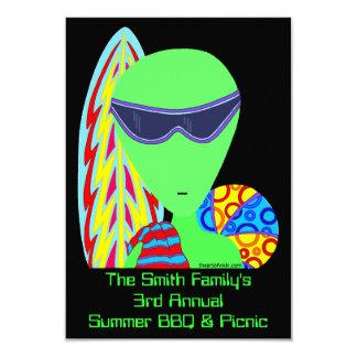 El Bbq extranjero del verano de las vacaciones de Invitación