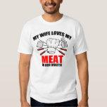 El Bbq, mi esposa ama mi carne Remeras