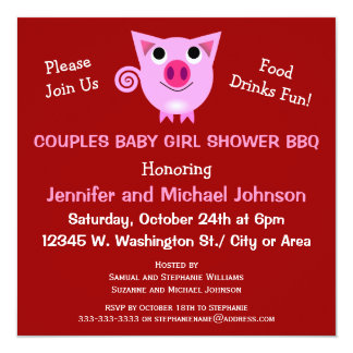 El Bbq rosado del cerdo junta el chica o el Anuncio