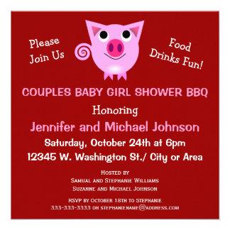 El Bbq rosado del cerdo junta el chica o el neutra