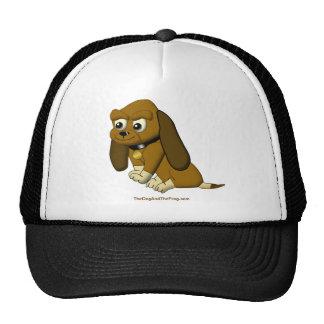 El beagle animado del dibujo animado del perro gorra