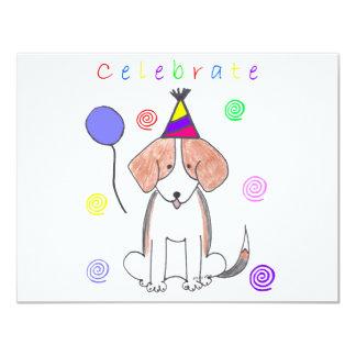"""El beagle celebra invitación 4.25"""" x 5.5"""""""