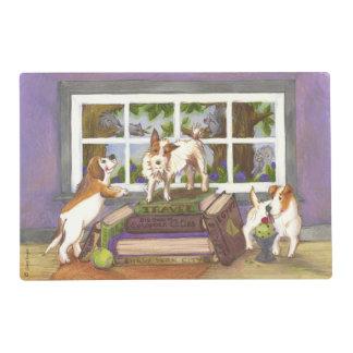 El beagle de Jack Russell Terrier atesora Placemat Salvamanteles