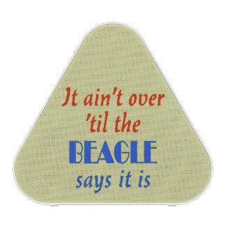 El beagle dice (el fondo beige) altavoz bluetooth