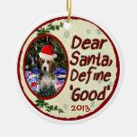 El beagle estimado Santa define el buen ornamento  Adornos