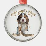 El beagle que me dijo necesita más entrenamiento ornamentos para reyes magos