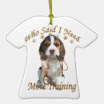 El beagle que me dijo necesita más entrenamiento ornaments para arbol de navidad