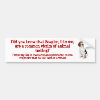 El beagle tiene gusto de la prueba de me/animal pegatina de parachoque