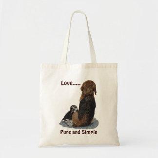 El beagle y la momia lindos del perrito persiguen bolsa
