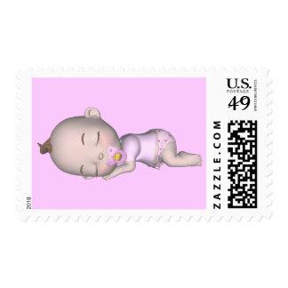 El bebé abraza franqueo de los besos de N Sellos Postales