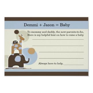 El bebé aconseja el juego de sociedad invitación 8,9 x 12,7 cm