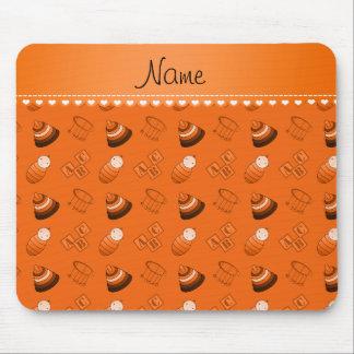 El bebé anaranjado conocido personalizado bloquea mousepad
