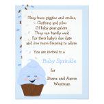 El bebé asperja en la invitación de los azules
