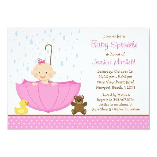 El bebé asperja la invitación de la ducha para el invitación 12,7 x 17,8 cm