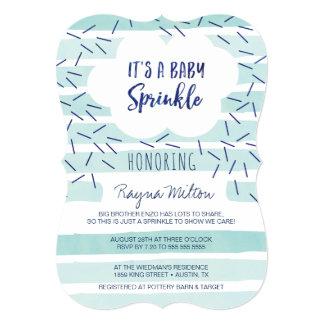 """El bebé azul asperja las invitaciones para un bebé invitación 5"""" x 7"""""""