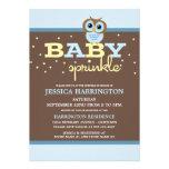 El bebé azul de Owly asperja invitaciones Anuncios