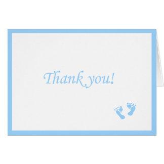 El bebé azul Huella-Le agradece Tarjeta Pequeña