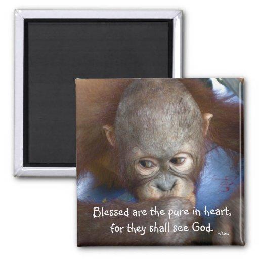 El bebé Blessed de la fauna es el puro en corazón Imán Para Frigorífico