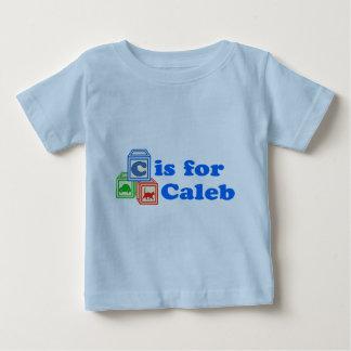 El bebé bloquea Caleb Playera De Bebé