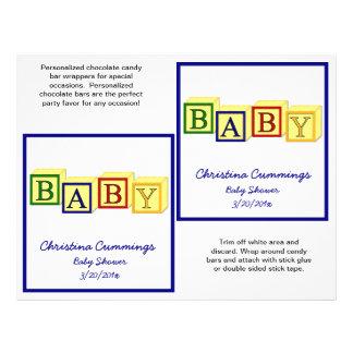 El bebé bloquea las envolturas de Candybar primar Tarjetas Publicitarias