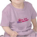 El bebé bloquea Molly Camisetas