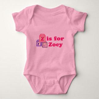 El bebé bloquea Zoey Playeras