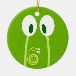 El bebé caracol se sube por las antenas de papá ornaments para arbol de navidad