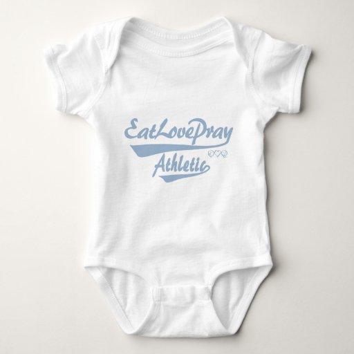 El bebé come amor ruega atlético polera