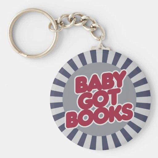 El bebé consiguió los LIBROS Llavero Redondo Tipo Pin