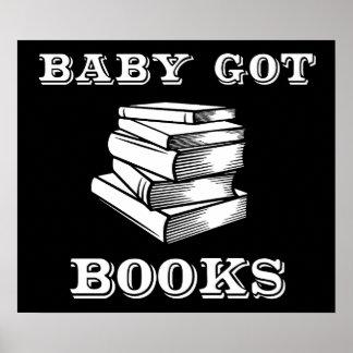 El bebé consiguió los libros póster