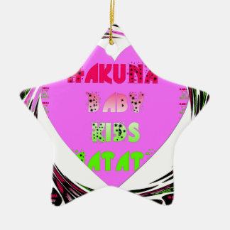 El bebé de Hakuna Matata de los corazones de los Adorno De Cerámica En Forma De Estrella