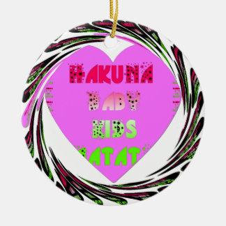 El bebé de Hakuna Matata de los corazones de los Adorno Redondo De Cerámica