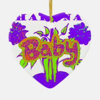 El bebé de Hakuna Matata embroma plant.png púrpura Adorno De Cerámica En Forma De Corazón