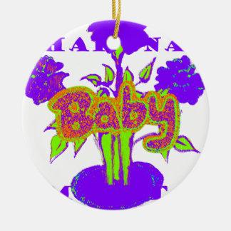 El bebé de Hakuna Matata embroma plant.png púrpura Adorno Redondo De Cerámica
