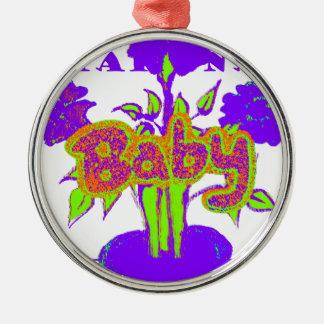 El bebé de Hakuna Matata embroma plant.png púrpura Adorno Redondo Plateado