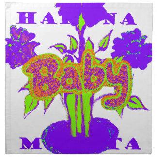 El bebé de Hakuna Matata embroma plant.png púrpura Servilletas De Papel