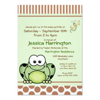 El bebé de la rana de Cutie asperja invitaciones Invitación 12,7 X 17,8 Cm
