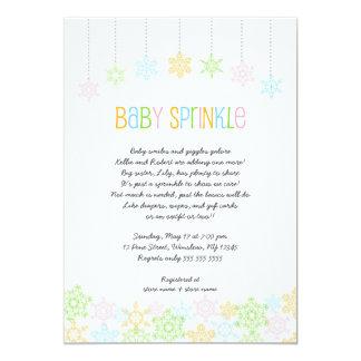 """El bebé del copo de nieve asperja invita a la invitación 5"""" x 7"""""""