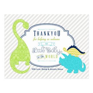 El bebé del dinosaurio le agradece postal