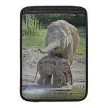 El bebé del elefante consigue la ducha funda para macbook air