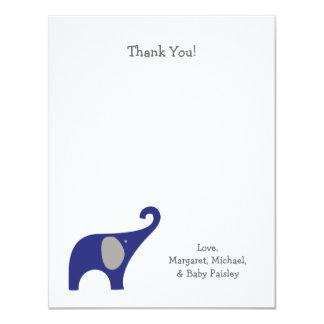 El bebé del elefante del gris de azules marinos le invitación personalizada