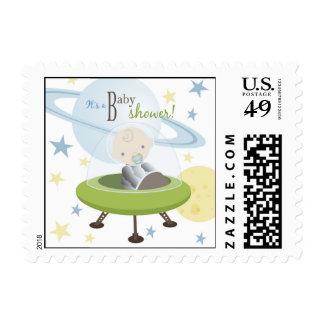 El bebé del espacio invita al sello 2