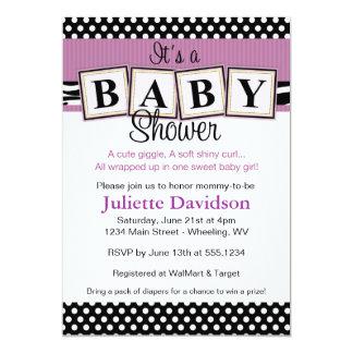 El bebé del estampado de zebra bloquea la invitación 12,7 x 17,8 cm